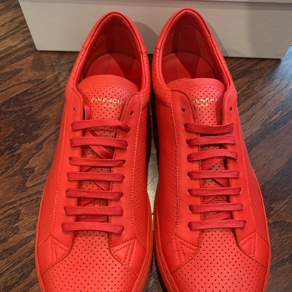 Givenchy Red Urban Street Sneakers